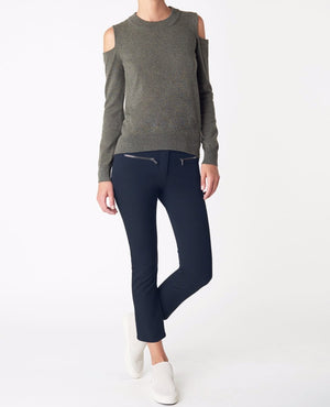 VERONICA BEARD CROPPED METRO PANT IN NAVY