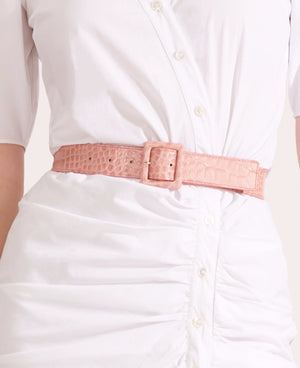 VERONICA BEARD ROSIE EMBOSSED CROC BELT