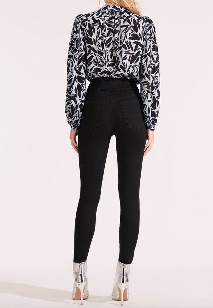VERONICA BEARD HIGH WAISTED CORSET SKINNY JEANS