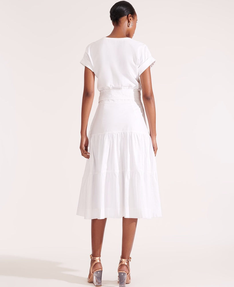 VERONICA BEARD TRAIL DRESS WHITE