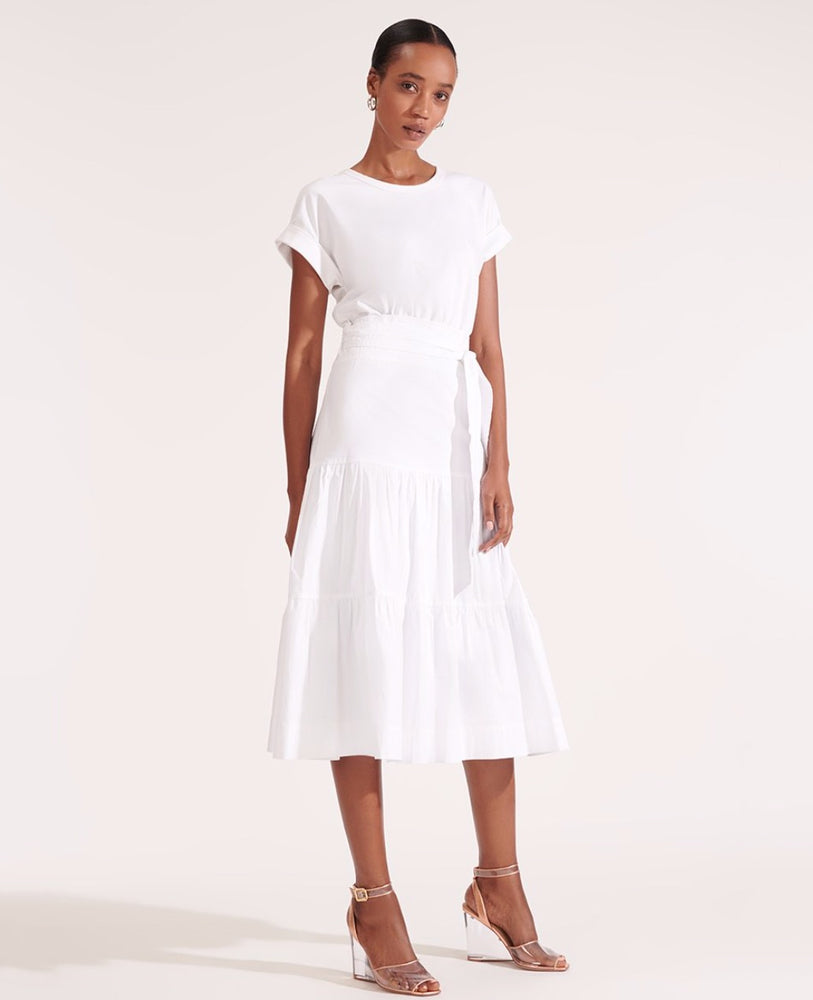 Load image into Gallery viewer, VERONICA BEARD TRAIL DRESS WHITE