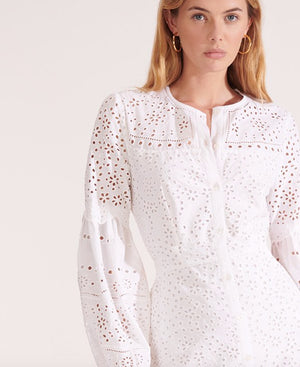 VERONICA BEARD YANA EYELET DRESS