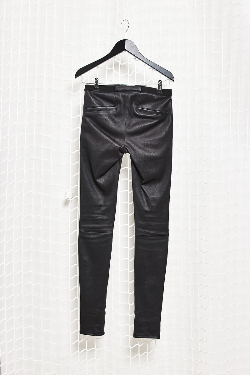 Black Leather Leggins
