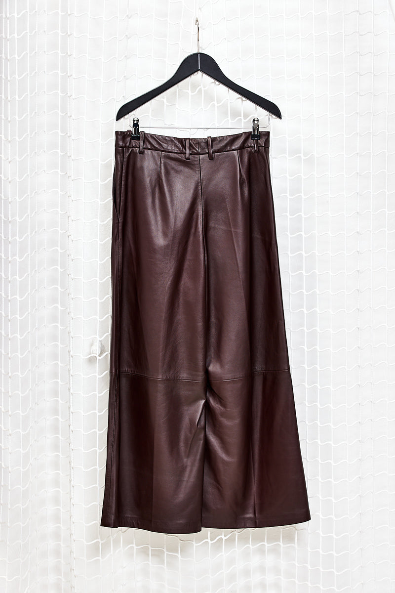Bordeaux Leather Trousers