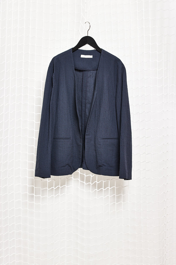 Navy Seersucker Jacket