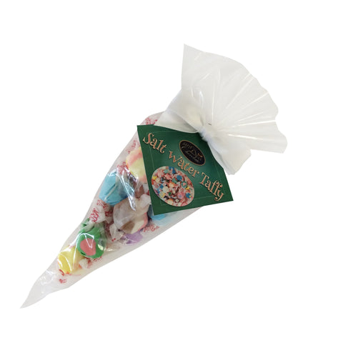 Assorted Gourmet Salt Water Taffy: Cone Bag 12/case