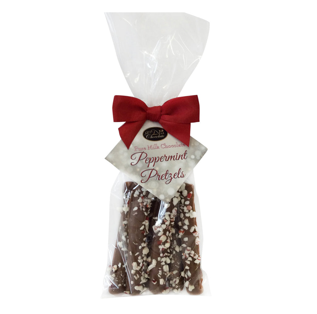 Milk Chocolate Pretzels Rods with Peppermint (6pc) - 12ct – anDea ...