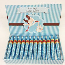 It's a Boy / C'est un Garcon Milk Chocolate Cigars - Gift Pack (24)