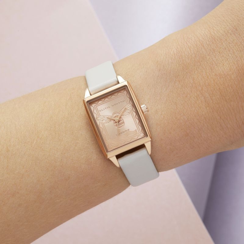 Olivia Burton - Bee Vegan Blush & Rose Gold watch