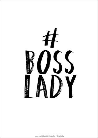 BOSS LADY / Plakat - Sort