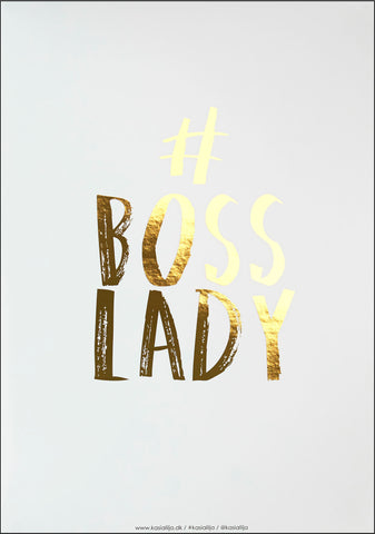 BOSS LADY / Poster - Gold