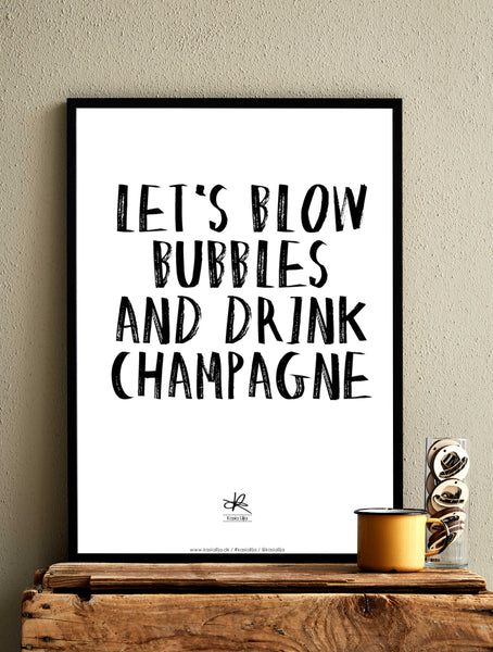 LET'S BLOW BUBBLES / Poster