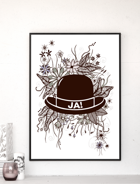 FLOWERS JAHAT - Card / Poster