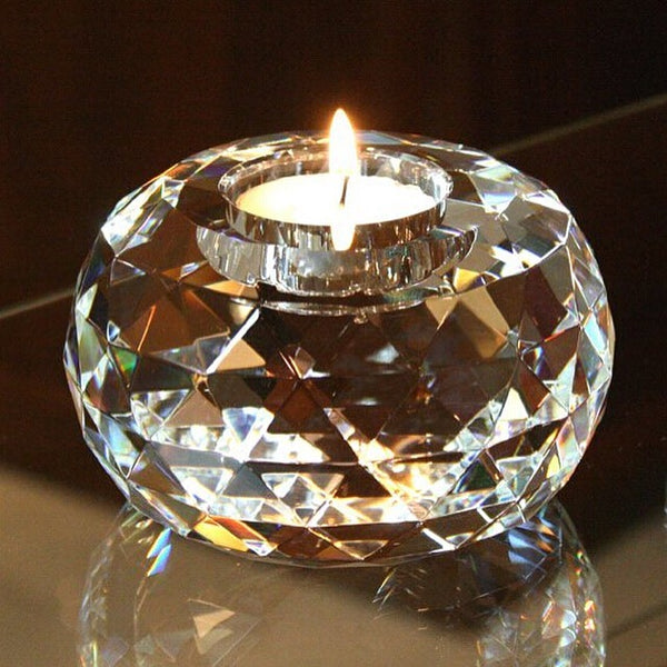 LILLY - Crystal candle holder - Ø9 cm x H6 cm