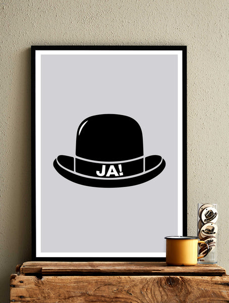 YES HAT! - Gray - Card / Poster