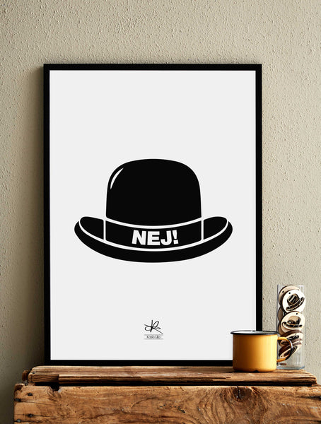 NO HAT! - Card / Poster