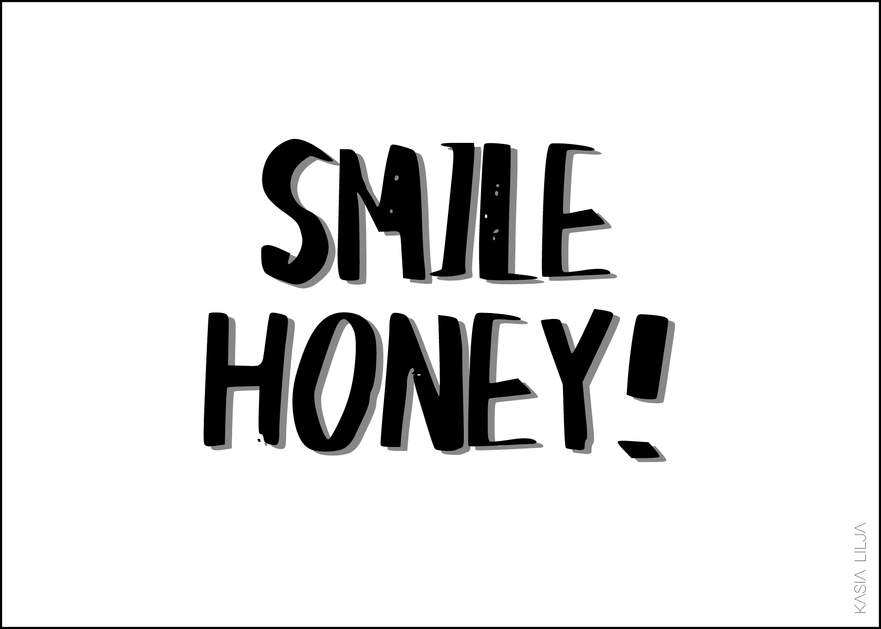 SMILE HONEY! / A6 Kort - 10 Stk