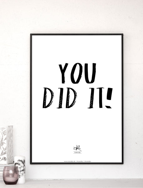 You Did It! - Kort / Plakat