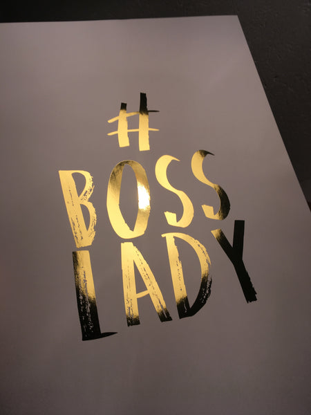 BOSS LADY (Gold) - Poster