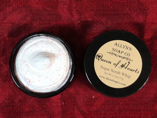 Queen of Hearts Sugar Scrub Whip