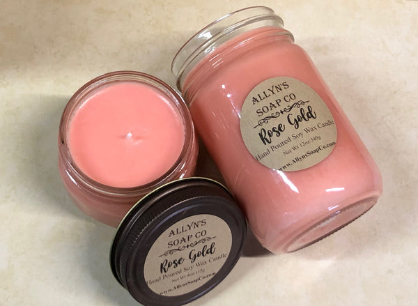 Rose Gold Soy Wax Candle