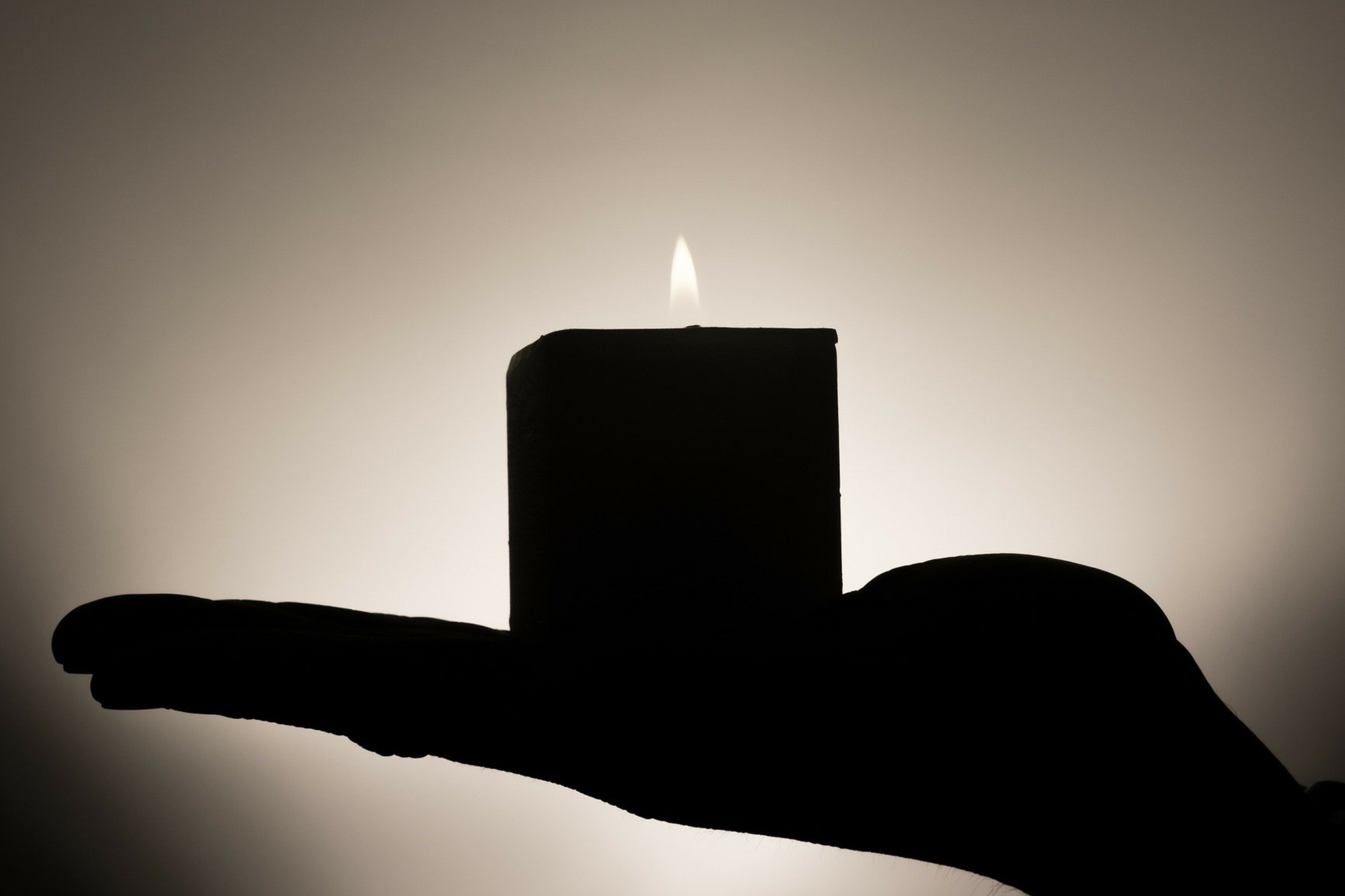 silhouette candle burning
