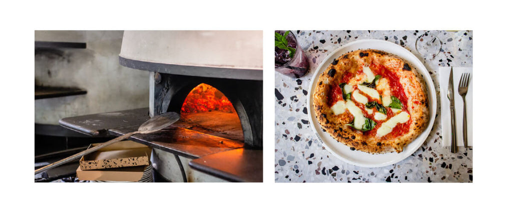artisan pizza and pizza oven