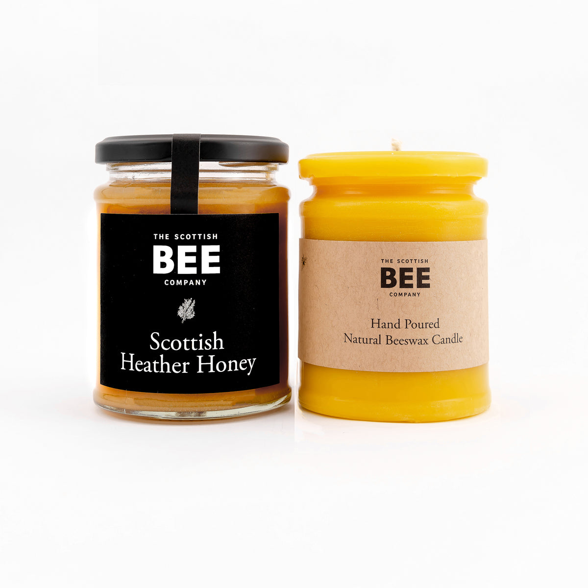 Scottish Heather Honey and Yellow Beeswax Candle