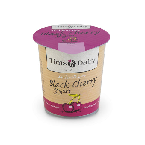 Tims Dairy Wholemilk Black Cherry Yoghurt 150g