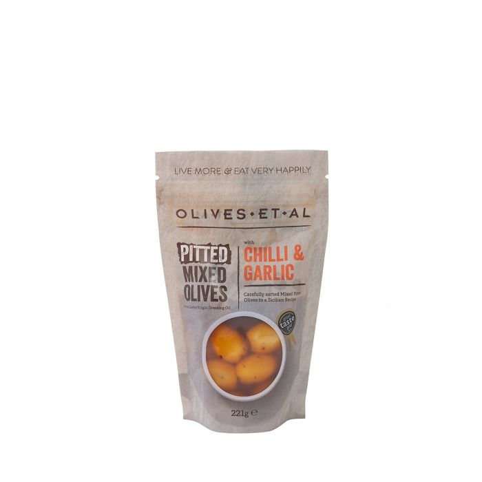 Olives Pouch Classic Chilli and Garlic