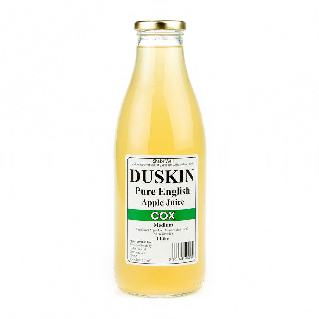 duskin cox apple jiuce  from holwood farm shop keston kent