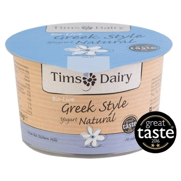 Tims Natural Greek Style Yoghurt 200g