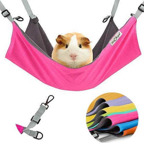 Warm Hammock for Parrot Ferret Squirrel Hamster Rat Playing Sleeping,Pink Guinea Pig Cage Accessories Bedding Small Pet Cage Hammock ANANAN Hamster Hanging House