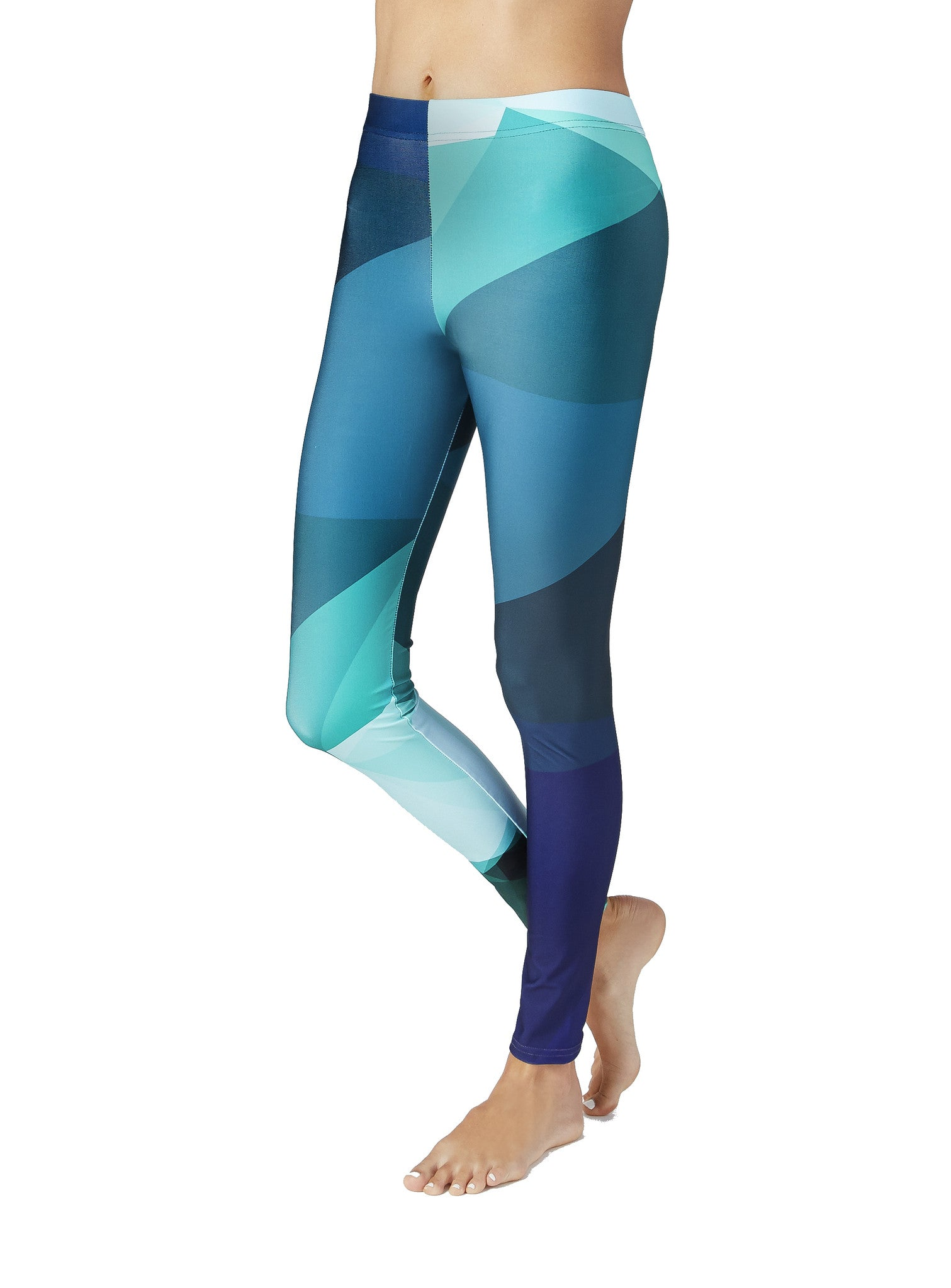 Blue And Green Workout Leggings