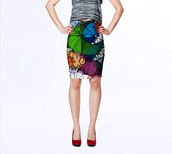 Art Print Pencil Skirt - Tulipe Studio