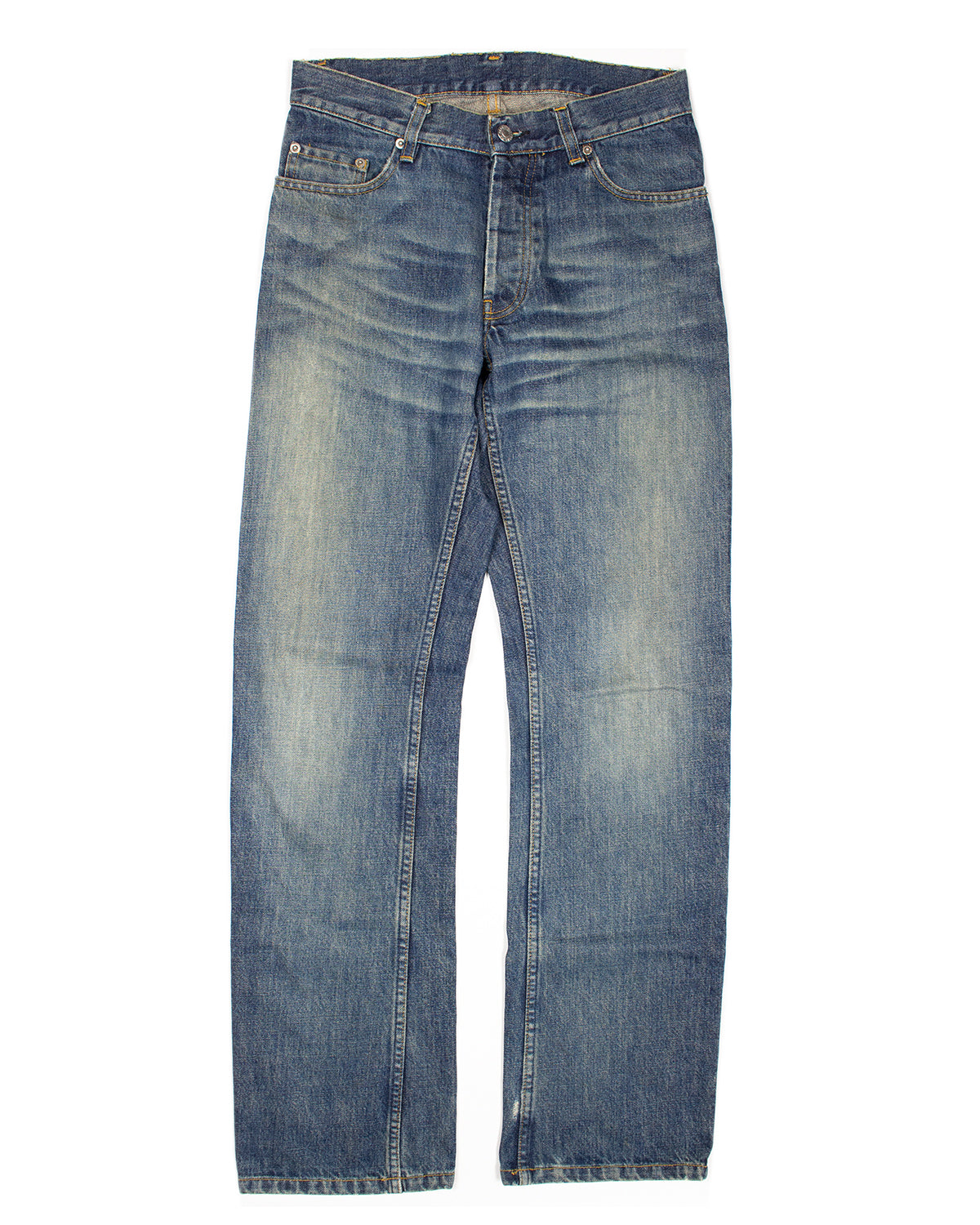 Helmut Lang Faded Medium Wash Denim SS2000
