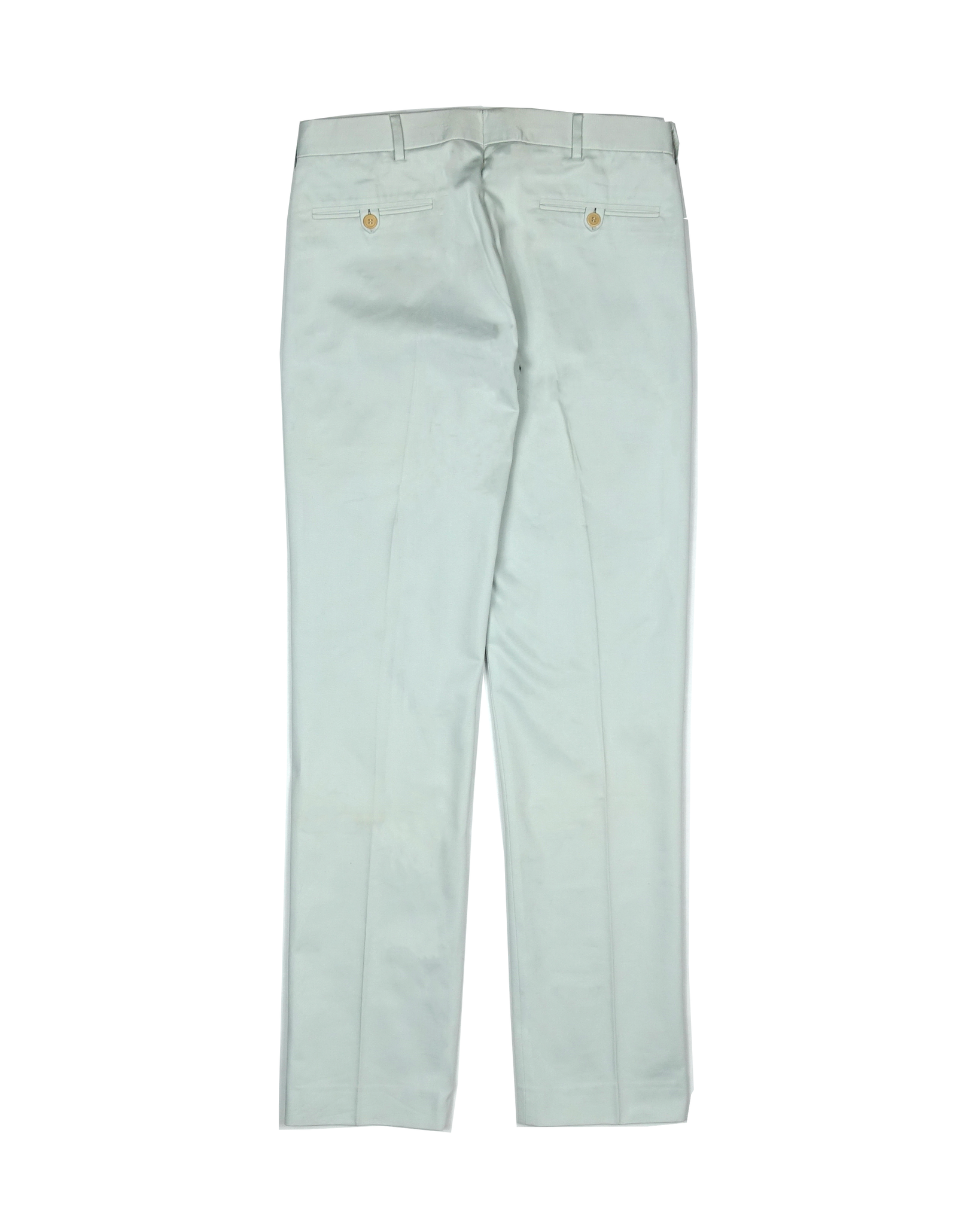 Helmut Lang Pale Grey Heavy Cotton Pleated Trouser