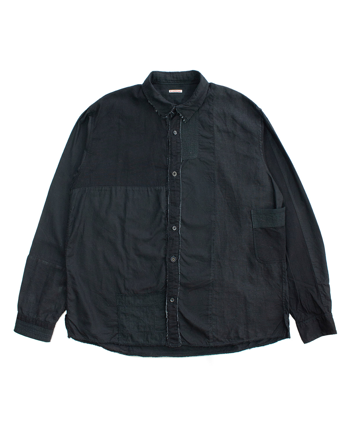 Kapital Black Patchwork Boro Overshirt SS2018