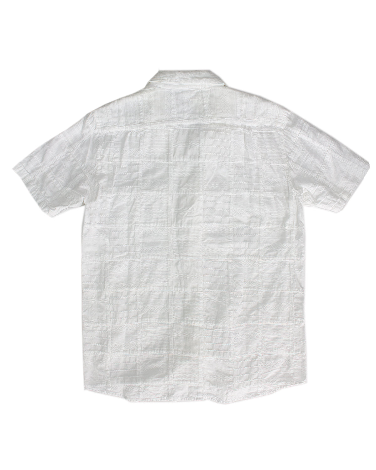 Kapital Woven Patchwork Shirt with Adjustable Collar