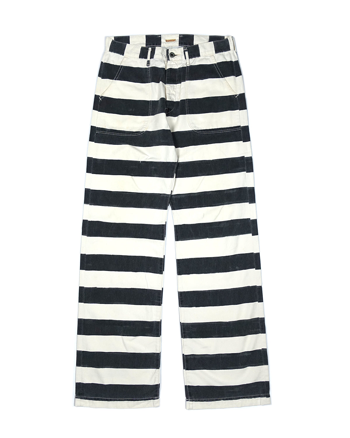 Kapital Relaxed Fit Prisoner Striped Denim SS2019