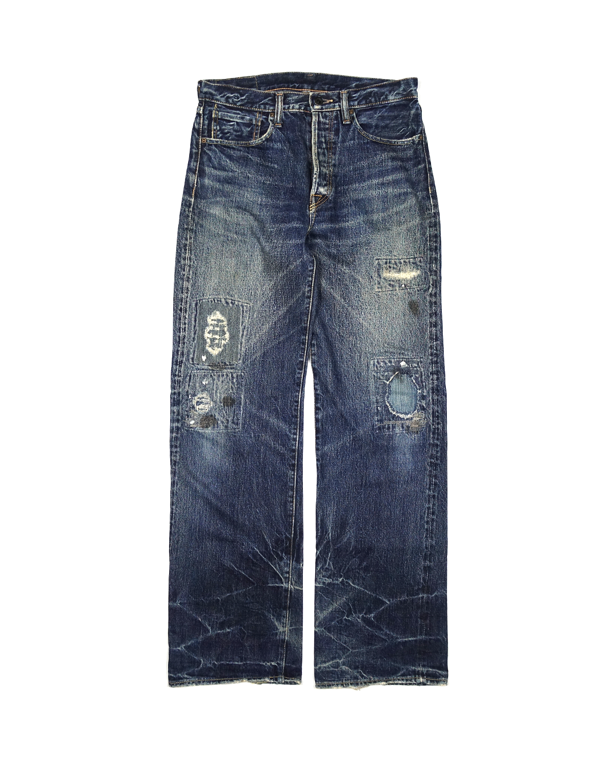 Kapital Relaxed Fit Indigo Boro Denim AW2005