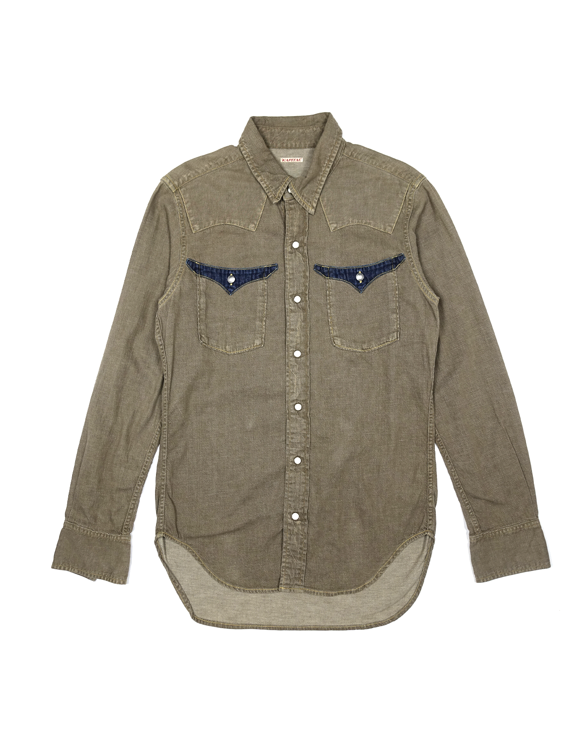 Kapital Denim Western Shirt with Concho Hardware Details