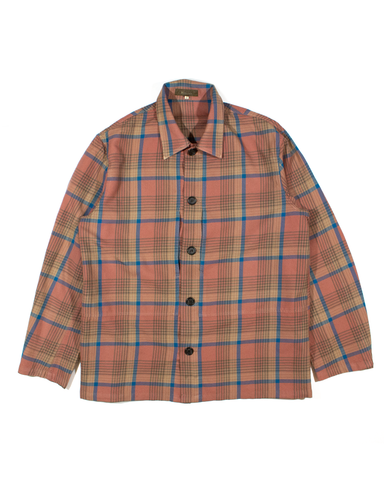 Yohji Yamamoto Flannel Overshirt with Concealed Front Slit Pockets 1990s