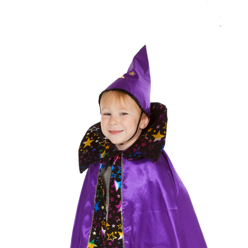 Children's Wizard Cape and Hat , Children's Costume - Pretend to Bee