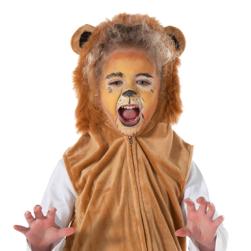 Children's Lion Fancy Dress Zip Top-Lion Costume - Pretend to Bee