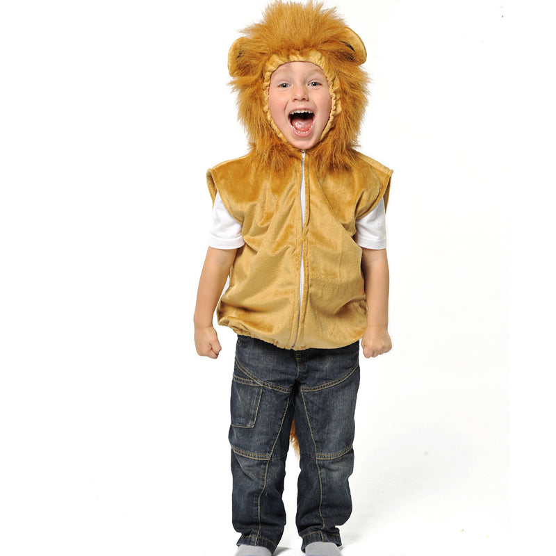Children's Lion Fancy Dress Zip Top-Lion Costume - Pretend to Bee -2