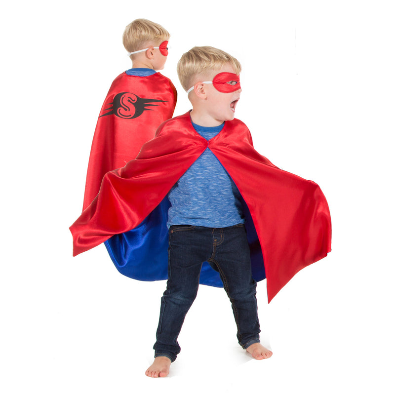 Superhero Cape, Children's costume - Red Cape- Pretend to Bee