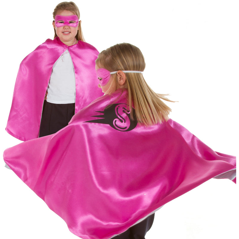 Superhero Cape, Children's costume - Pink Cape -Pretend to Bee