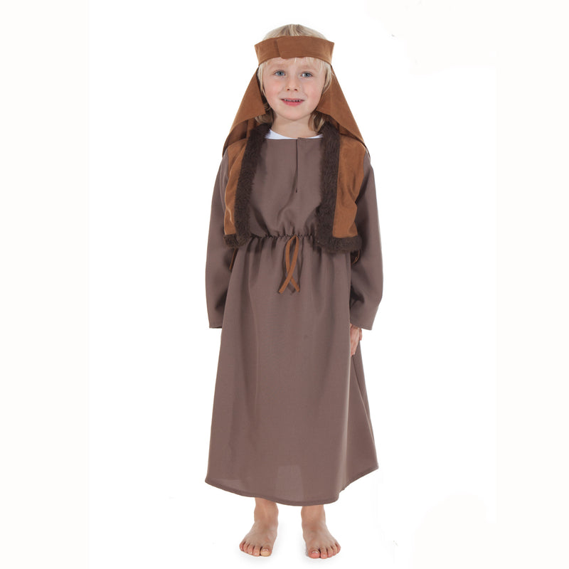 Children's Shepherd Nativity Costumes -Shepherd Costume - Dark Brown / 3-5 years, Children's Costume - Time to Dress Up