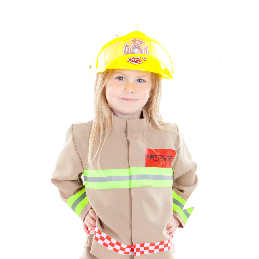 Children's Fire Fighter Costume- Children's Fancy Dress - Time to Dress Up